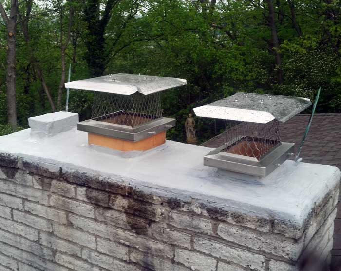 Bats R Us habitat modification maintenance chimney experts repaired and capped the chimney.