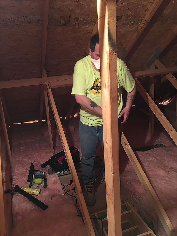 Our Greenwich Wildlife Control Experts use their insulation replacement mastery to finish off this attic job.